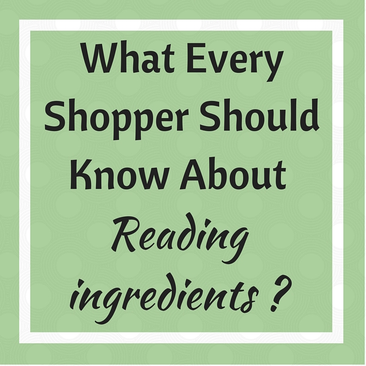 Reading Ingredients